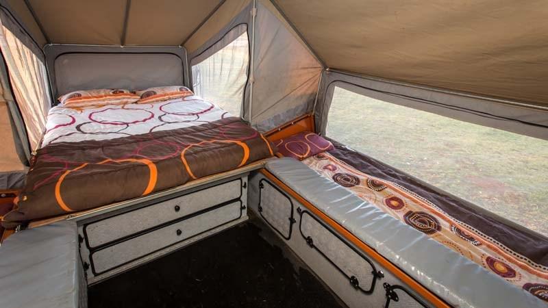 off road camper trailer inside