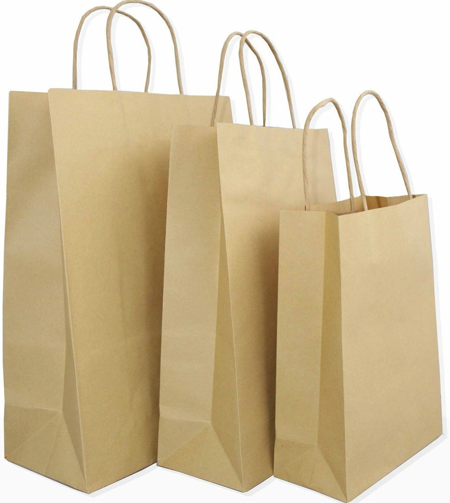 paper bags with handles wholesale