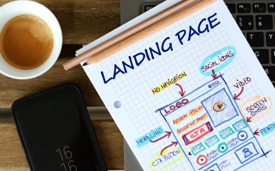 Website landing page development